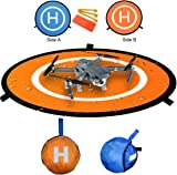 Kingwon RC Drone Landing Pad for Helicopter DJI Mavic Air Accessories, DJI Mavic Pro / Platinum 30 inch(75 centimeter) Collapsible Helipad Dronepad for DJI Phantom 2 3 4 Inspire, Spark