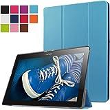 ERLI Lenovo Tab 2 X30F A10-30 Funda, Ultra delgado Smart Funda Carcasa con Stand Función y Auto-Sueño/Estela para Lenovo Tab 2 X30F A10-30 Android Tablet pulgadas (Cielo-azul)