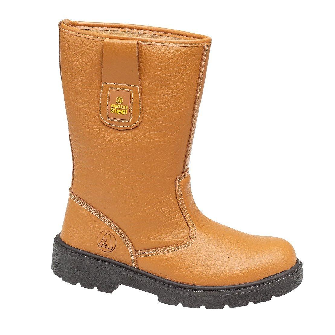 Amblers Fs124 Resiste Hombre Ponerse Botas Botines Zapatos 48 EU Tan
