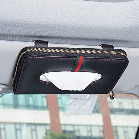 Car Sun Visor Pouch Holder Tissue Box Hanging Storage Organiser