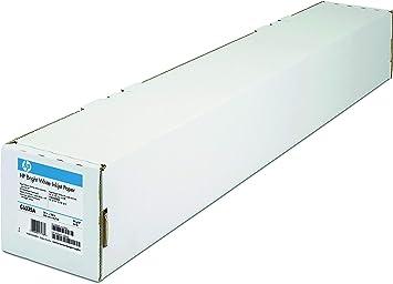 Papel Mate - HP Plotter C6035A Papel Blanco Brillante para Inyección de Tinta de Color Blanco Brillante - Rollo A1 (61.0 cm x 45.7 m - 90 g / m2-1 Bobina (S): Hp: Amazon.es: Oficina y papelería