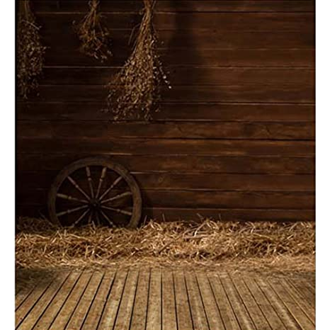 Rustic Wood Photography Backdrops Besom Straw Wooden Flooring Photo Studio Backgrounds Felloe Children Booth Shoot Props