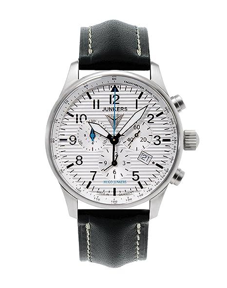 Junkers 66841 - Reloj de caballero, correa de piel color negro: Amazon.es: Relojes