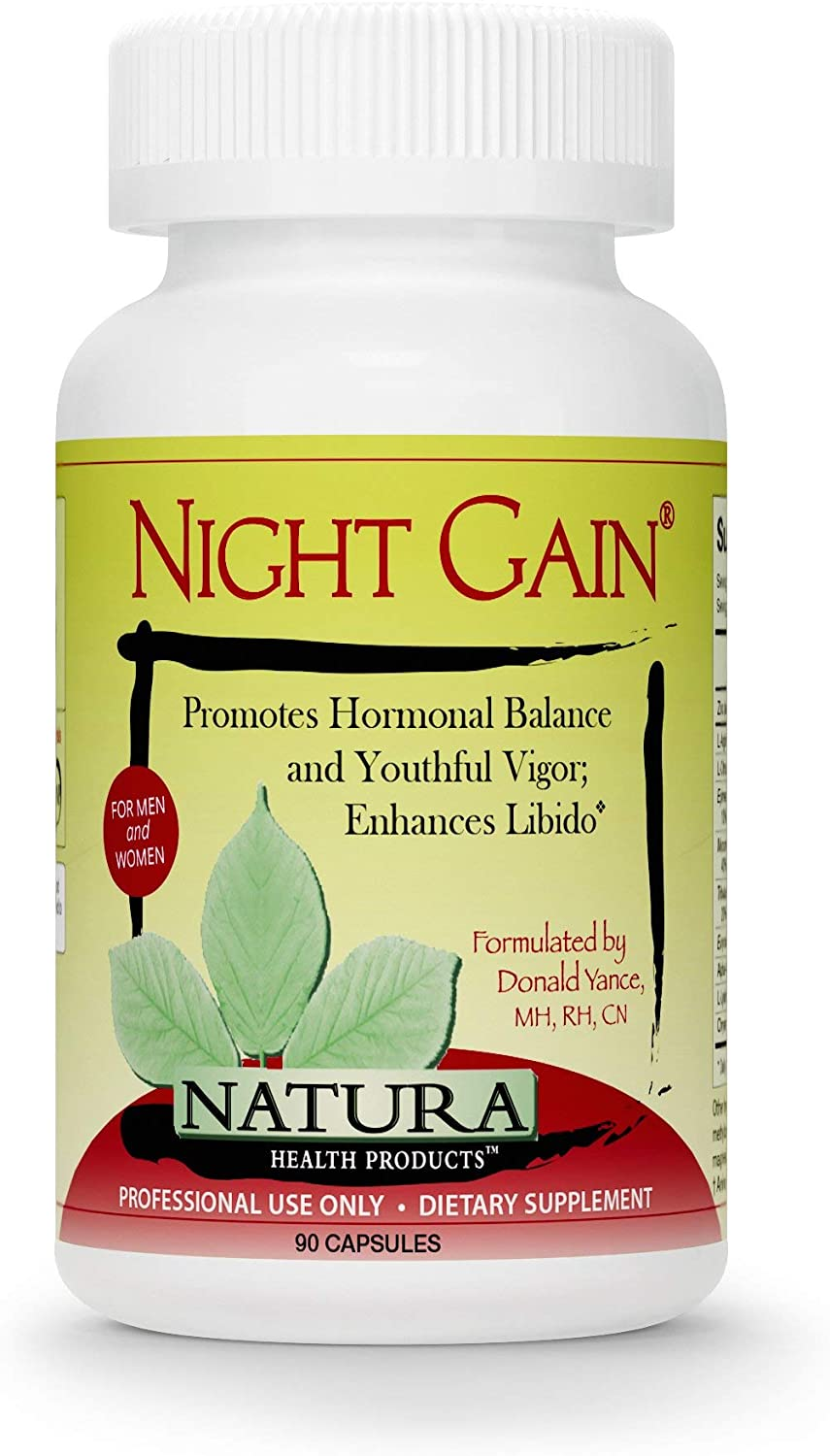 Natura Health Products – Night Gain – Supports Youthful Hormones to Promote Vigor, Longevity, and Enhance Libido – 90 Capsules