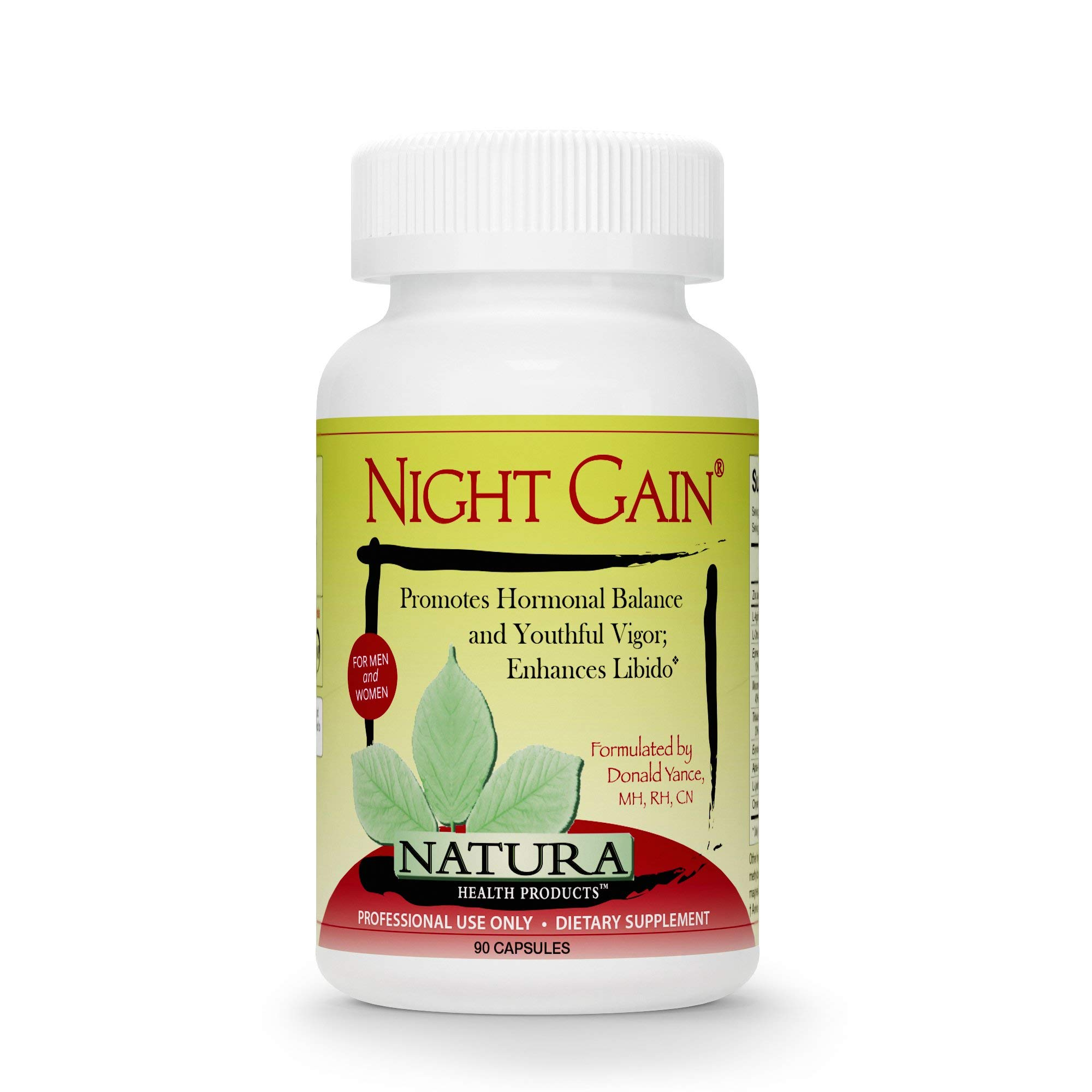 Natura Health Products - Night Gain - Supports Youthful Hormones to Promote Vigor, Longevity, and Enhance Libido - 90 Capsules by Natura Health Products