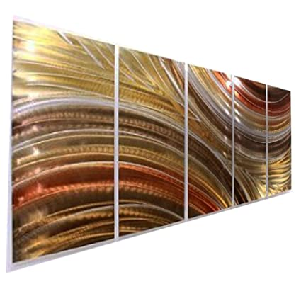 Amazon.com: Extra Large Brown, Copper & Gold Earthtone Modern ...