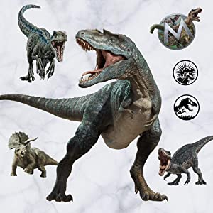 Kiddale T-Rex Giant Wall Stickers,Peel and Stick Removable Dinosaur Wall Decals for Kids Boys Girls Adult Bedroom Living Room