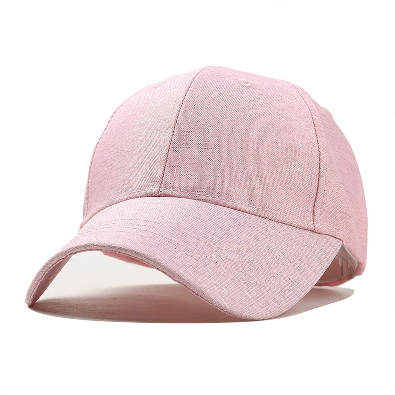 CHENTAI Women Baseball Cap Plain Snapback Dad Hat Bone for Girl Summer Casual Solid Color Cap