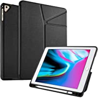 CHOETECH Case for New iPad 9.7 Inch 2018/2017, iPad Air2/iPad Air, Foldable Front Back Cover Stand with Apple Pencil Holder, Full-Body Rugged TPU Apple iPad 9.7'' Case【Auto Wake/Sleep】