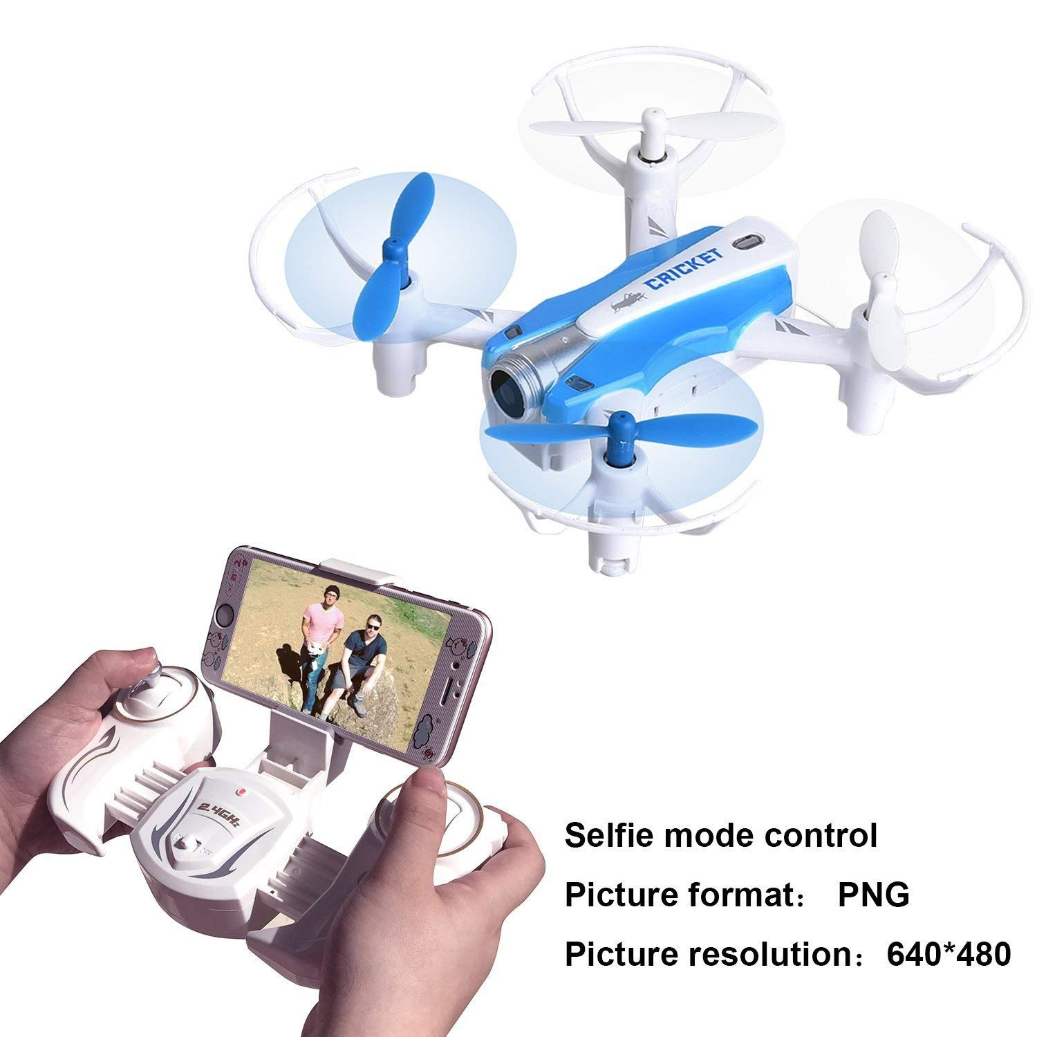 WANG XIN Christmas Air Pressure Fixed high Mini Four-axis Self-Timer Mobile Phone Remote Control Aircraft by WANG XIN (Image #3)