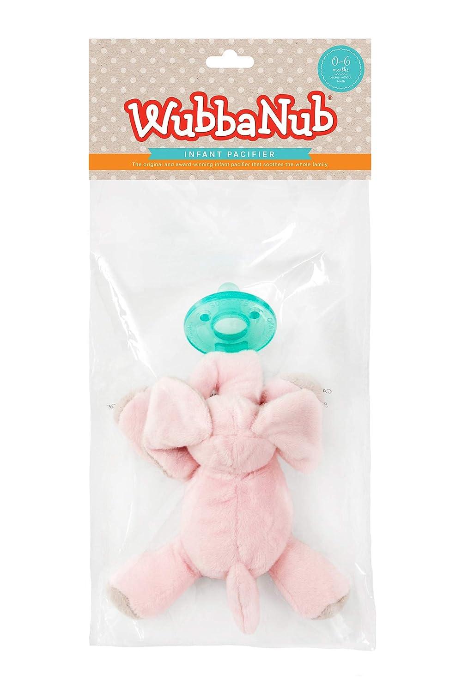 WubbaNub Infant Pacifier Pink Elephant