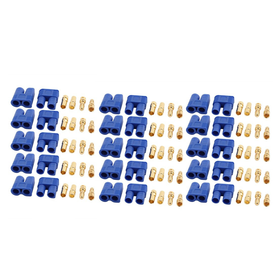 sourcing map 15 Pairs EC3 2mm Female Male Banana Connectors for RC ESC LIPO Battery Motor a17032300ux0473