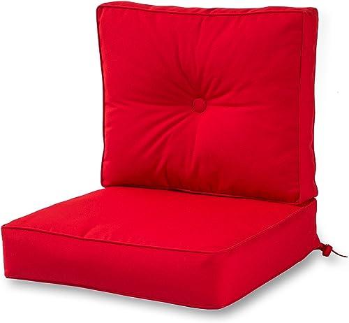Greendale Home Fashions Outdoor Sunbrella Deep Seat Chair Cushion Set