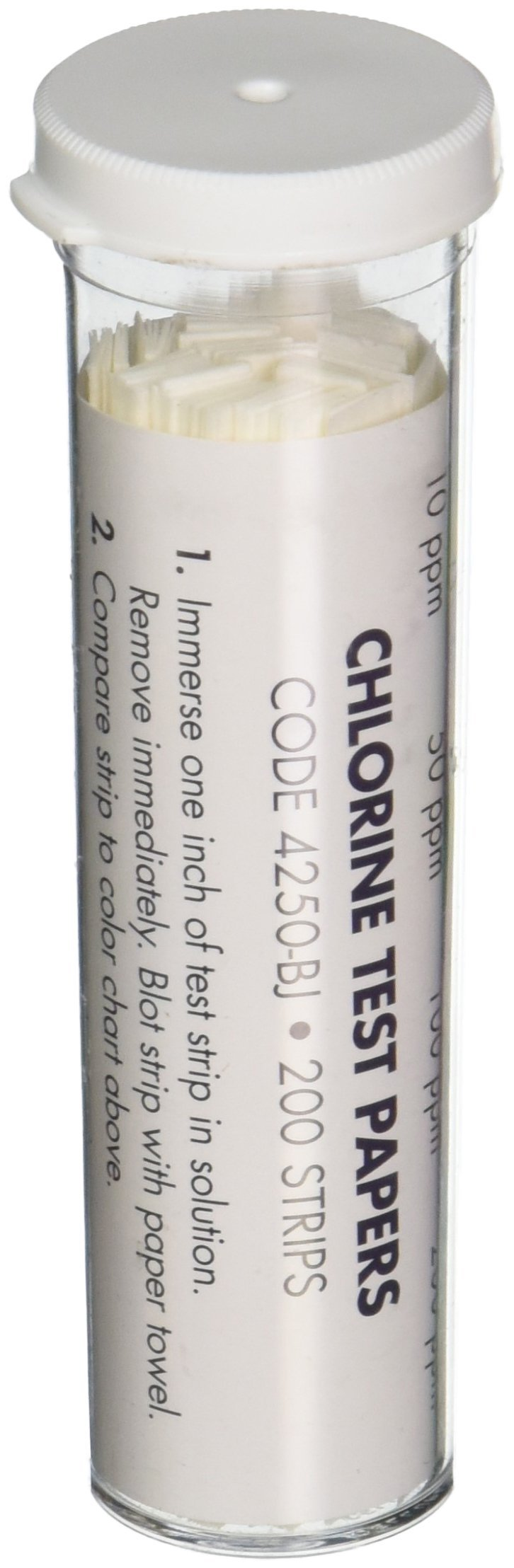 LaMotte 4250-BJ Chlorine Test Strips, Sanitizer Strength