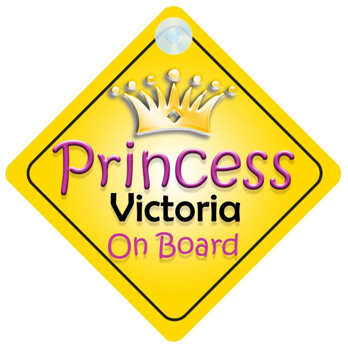 Princesse Victoria on Board Panneau Voiture Fille/Enfant Cadeau Bé bé /Cadeau 002 mybabyonboard UK