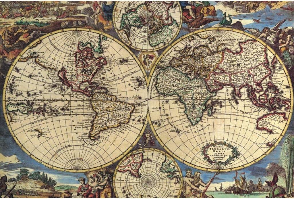 Puzzle 1000 Piezas, Mapas Antiguos, Juegos Educativos De Rompecabezas De Madera para Adultos, Juguetes De Desafío Intelectual para Niños, Regalos De Decoración -5.14