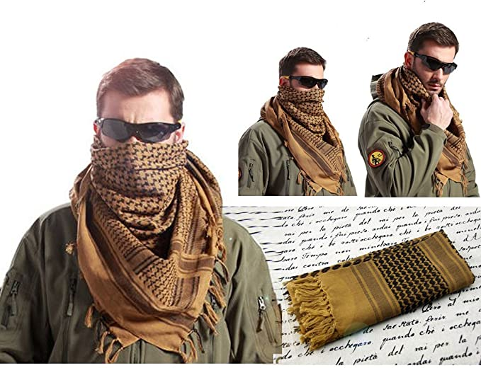 Reliable Cool Arab Shemagh Keffiyeh Military Tactical Palestine Scarf Shawl FO