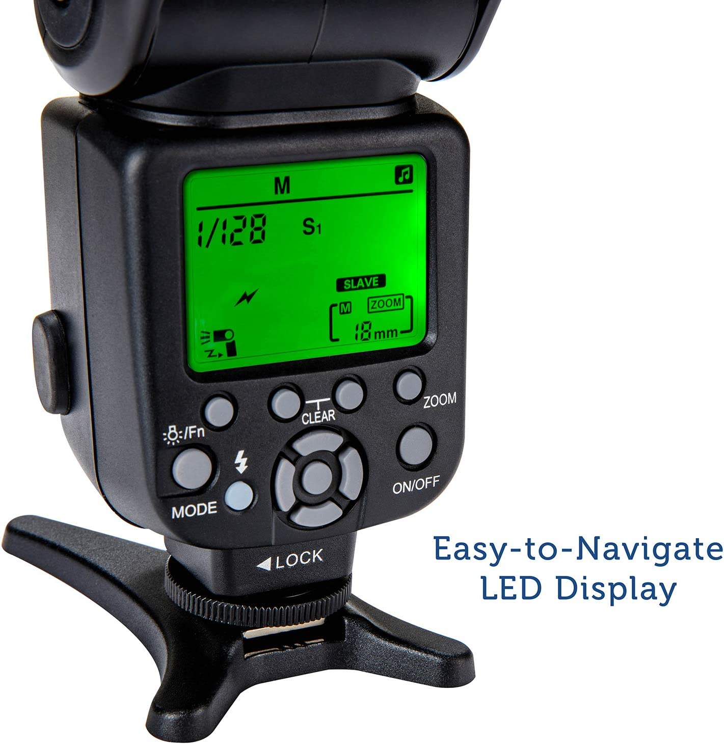 Wireless /& TTL With LCD Display Polaroid Professional Hot Shoe Flash For All Nikon DSLR Cameras