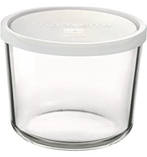 Superior Bormioli Rocco Frigoverre Round Tall Storage Container With Frosted Lid,  47 1/2