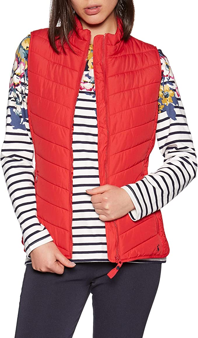 Joules Womens Fallow Padded Gilet With Funnel Neck in MARINE NAVY