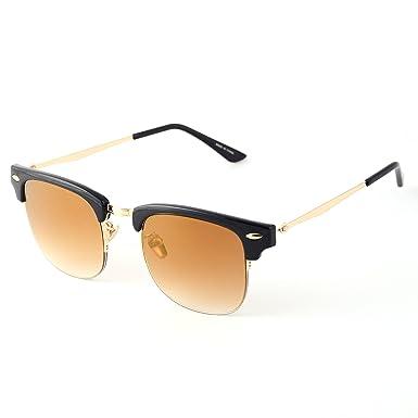 5907aaed66 Dollger Wayfarer Clubmaster Sunglasses Semi-rimless Gold Metal Frame  Sunglasses(Gold Gradient Lens+ Matte Black Frame)  Amazon.co.uk  Clothing
