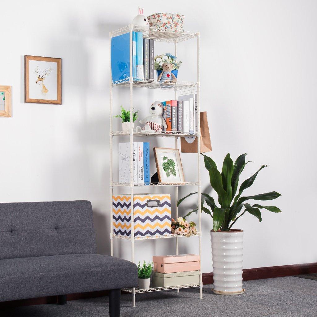 Amazon.com: LANGRIA 6 Tier Stand Storage Rack, Kitchen Wire Shelving ...