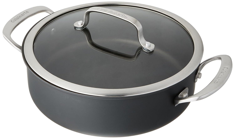 Aluminum Casserole Cuisinart DSA55-24 Dish Dishwasher Safe Hard Anodized 3.5 Qt Medium