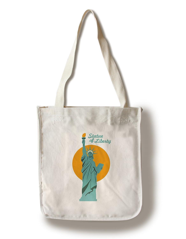 ニューヨーク市、ニューヨーク – 自由の女神像レトロSkyline –  Canvas Tote Bag LANT-75650-TT B01F8BZLXQ  Canvas Tote Bag