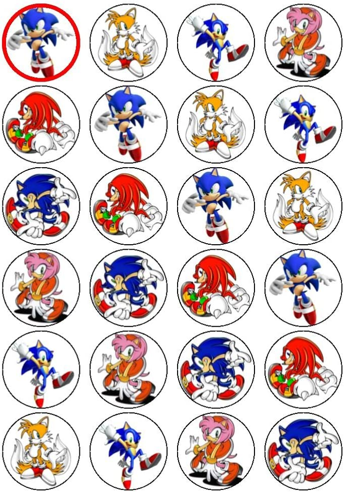 24 Sonic Cupcake Toppers Amazon Co Uk Kitchen Home