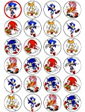 24 Sonic Cupcake Toppers by Coyote Party and print