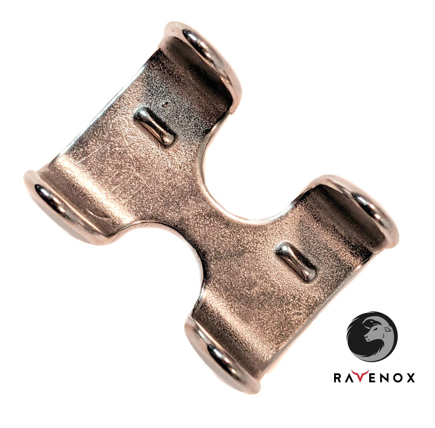 | Heavy Duty Brass Metal Clamp for 1//2-inch and 5//8-inch Ropes Ravenox Metal Clips for Rope | Cords Zinc Nickel Plate Over Solid Brass Nickel Plated Double Rope Clamps Stainless Steel 2 Pack