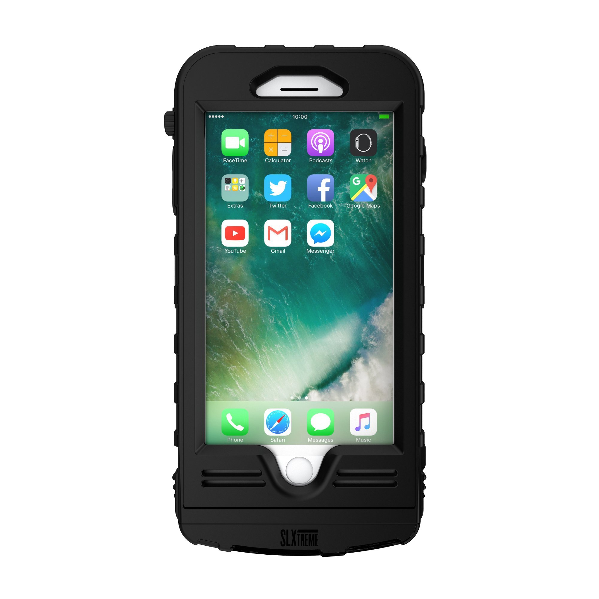 SnowLizard SLXtreme iPhone 8 Plus Case. Solar Powered, Rugged and Waterproof with a built in Battery - Night Black by Snow Lizard Products (Image #2)