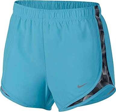 ac63ac4e8b8bc Nike Women's 3'' Dry Tempo Running Shorts(Polarized Blue/Stealth/Wg, L)