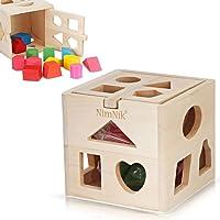 Cubo in Legno Gioco Forme a Incastro – Classico Gioco Didattico Prima Infanzia