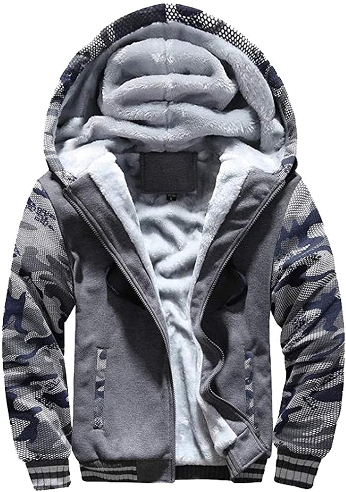 Winter Mens Hooded Hoodies Sweatshirt Sweater Pullover Outwear Coats Jacket Tops