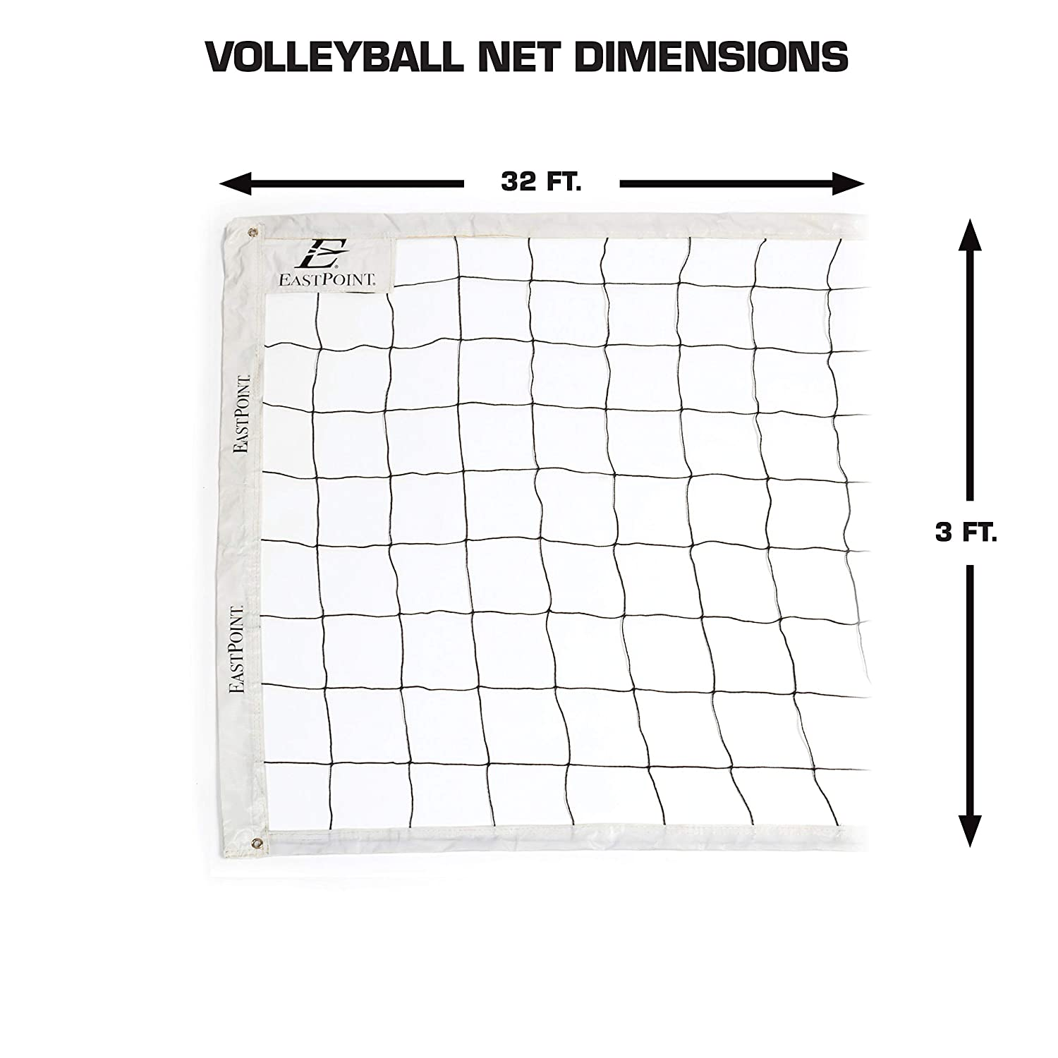Features High Strength ... EastPoint Sports Premium Replacement Volleyball Net