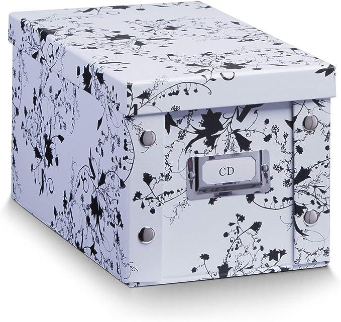 Zeller 17845 Caja de almacenaje de cartón Blanco (White Floral) 16.5 x 28 x 15 cm: Amazon.es: Hogar