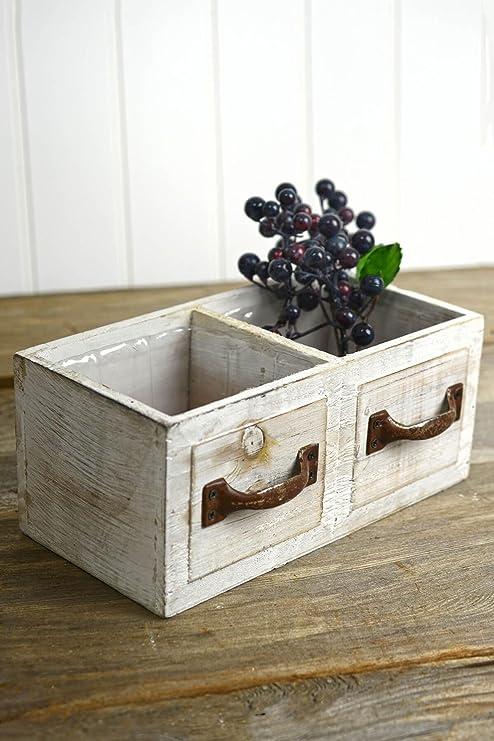 Richland blanco madera cajón caja de maceta 9
