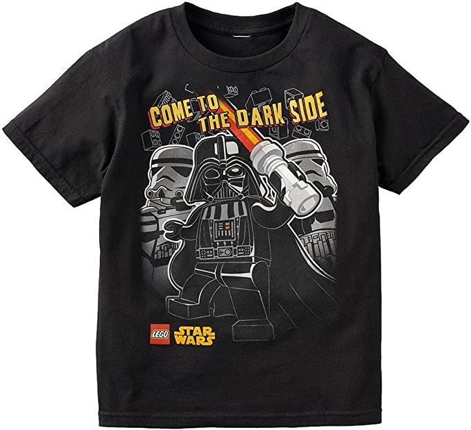 Lego Youth Boys Star Wars Dark Side Darth Vader Stormtroopers Shirt New Size L