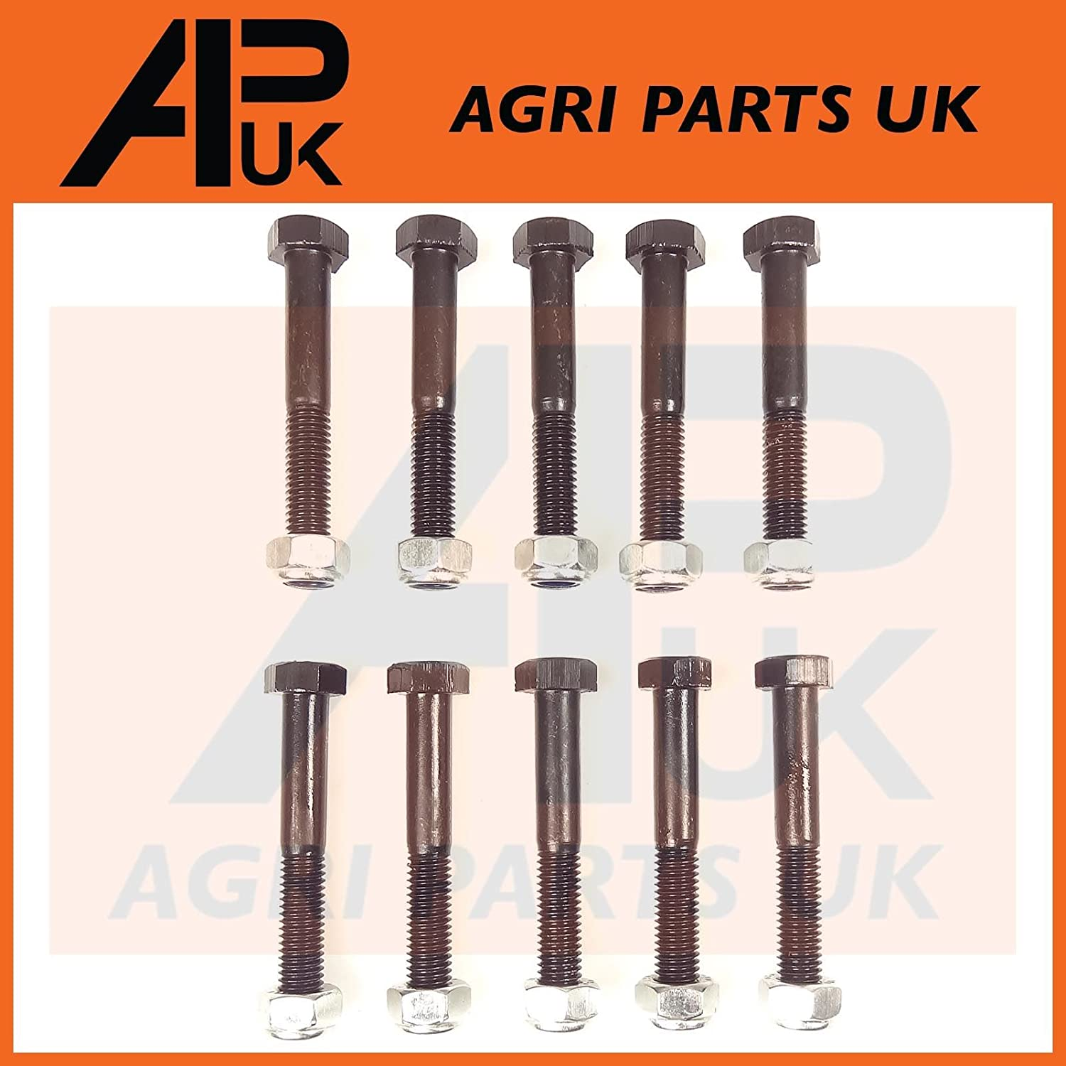 APUK 10 Pack PTO Shear Bolts M8 x 55mm Lely Welger Baler Mower Blower Feeder Topper Agri Parts UK Ltd