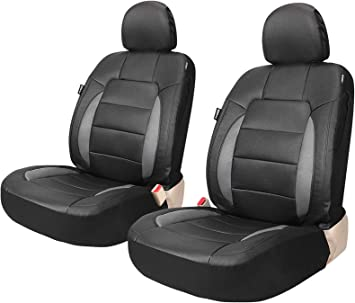 Car Seat Covers PU Leather Front and Rear Compatible to Toyota 53 Bk//Tan