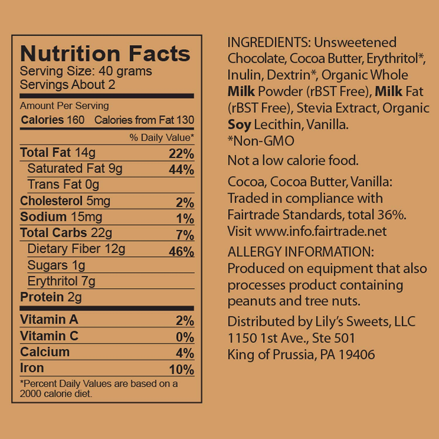 Creamy Milk Chocolate Bar by Lily's Sweets   Stevia Sweetened, No Added Sugar, Low-Carb, Keto Friendly   40% Cacao   Fair Trade, Gluten-Free & Non-GMO   3 ounce, 4-Pack by Lily's (Image #3)