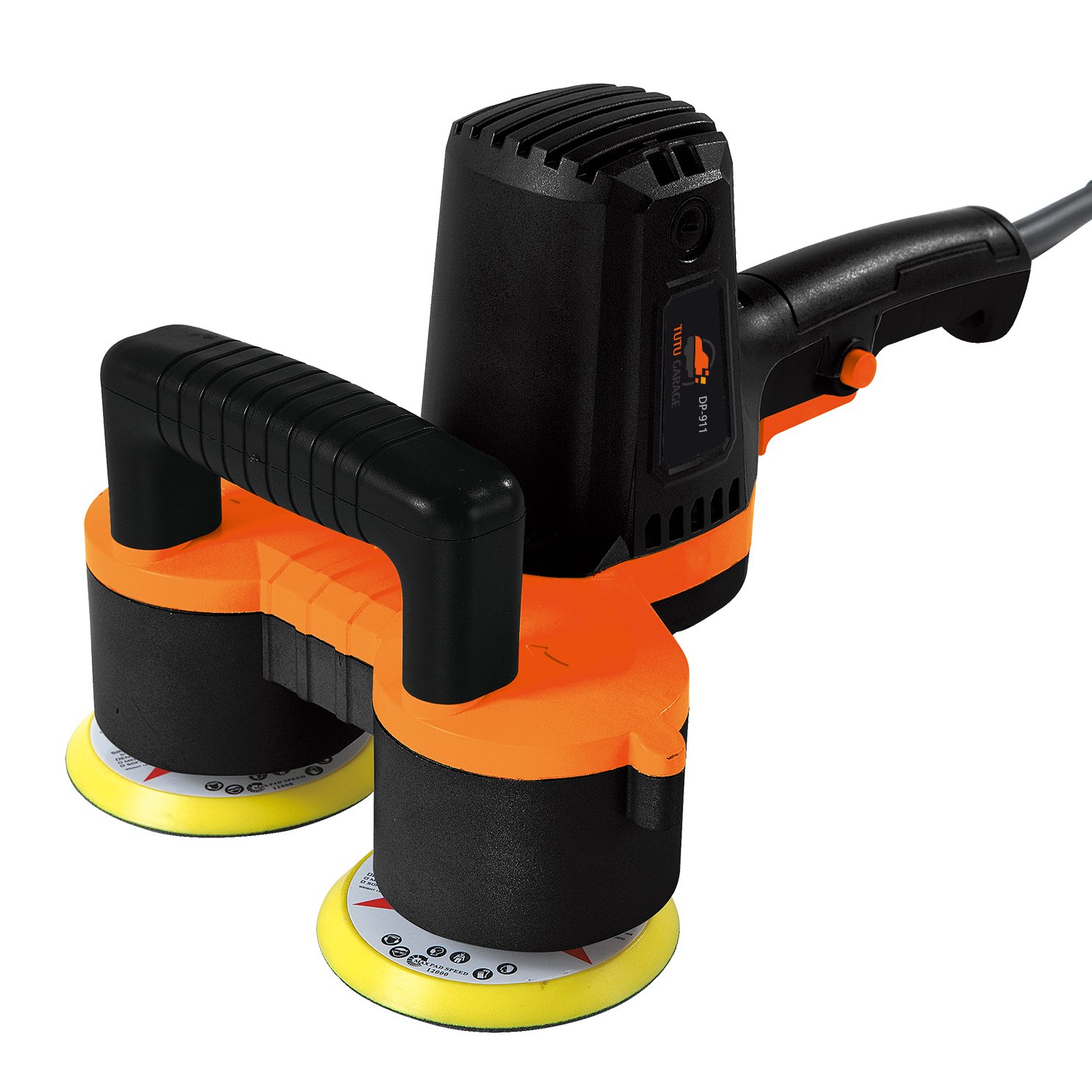 2018 Oileus Polisher 4-Inch Dual Head Polisher and Buffer - 6 Variable Speed Efficient Random Orbit Sander with 4 × Polishing Pads by Oileus (Image #2)