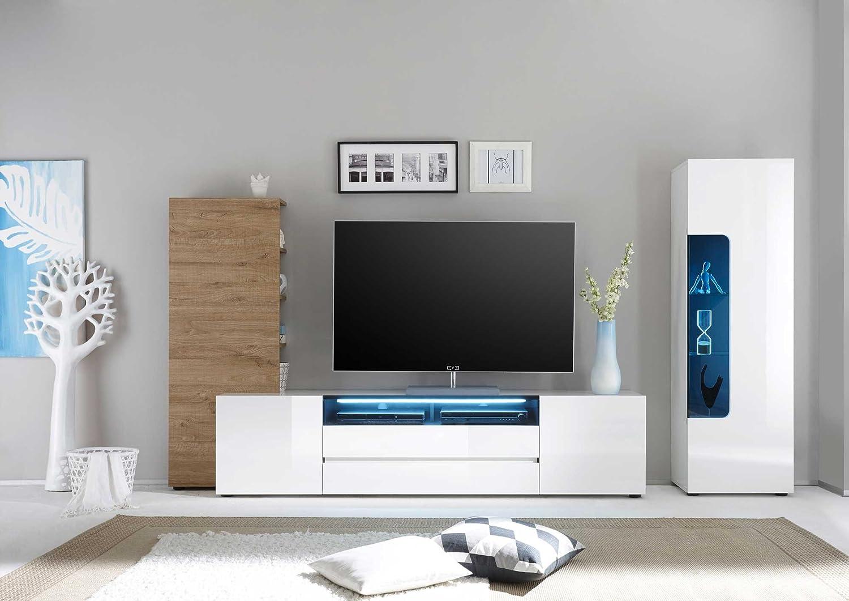 lifestyle5living Anbauwand, Wohnzimmerschrank, Wohnwand