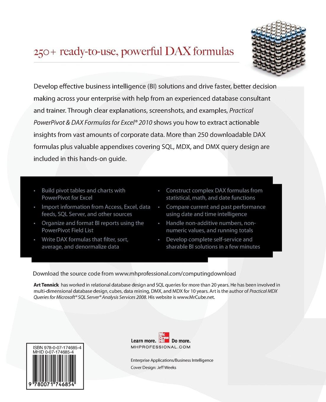 Practical PowerPivot & Dax Formulas for Excel 2010: Amazon co uk