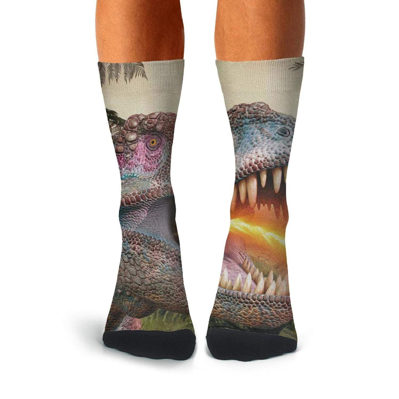 Over The Calf Socks For Men Casual Compression Stockings Men KCOSSH Dinosaur Mens Socks Crew Novelty
