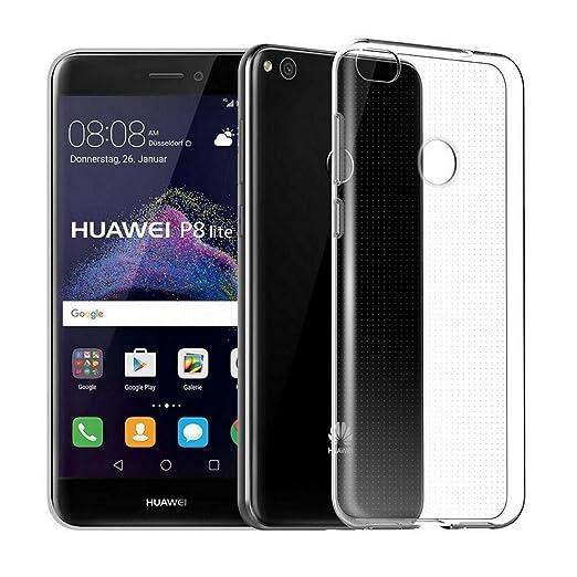 18 opinioni per Wrcibo Huawei P8 Lite 2017 Custodia, Trasparente Ultra Slim TPU Morbido guscio