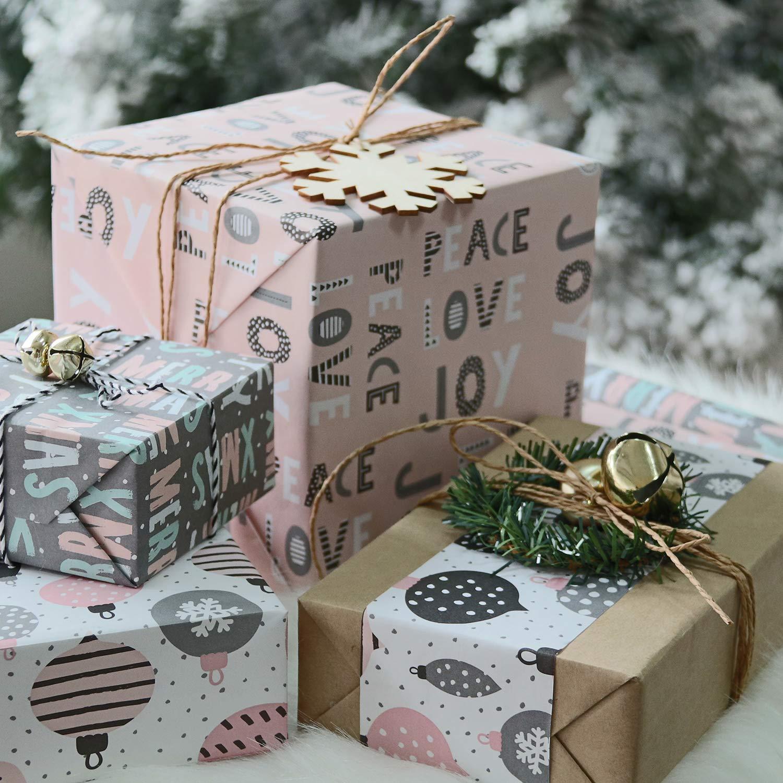 8 Fogli 44,5 X 76 CM Per Foglio RUSPEPA Foglio Di Carta Da Regalo Carta Da Regalo Kraft Di Natale