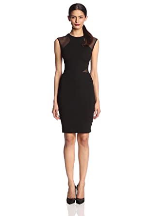 French Connection Women's Viven Panelled Jresey Dress, Black, 10