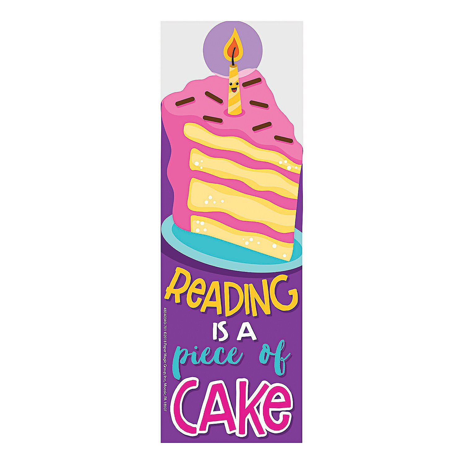 Fun Express Cake Scented Bookmarks 24 Pieces